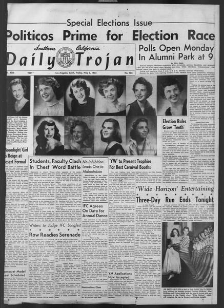 Daily Trojan, Vol. 43, No. 126, May 02, 1952