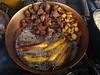 Fried smoked pork, potatoes and bananas   Ecuadorian fast food
