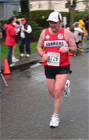 2003 Comox Valley Half Marathon - Harrier Bus Trip organizer Randy Jones