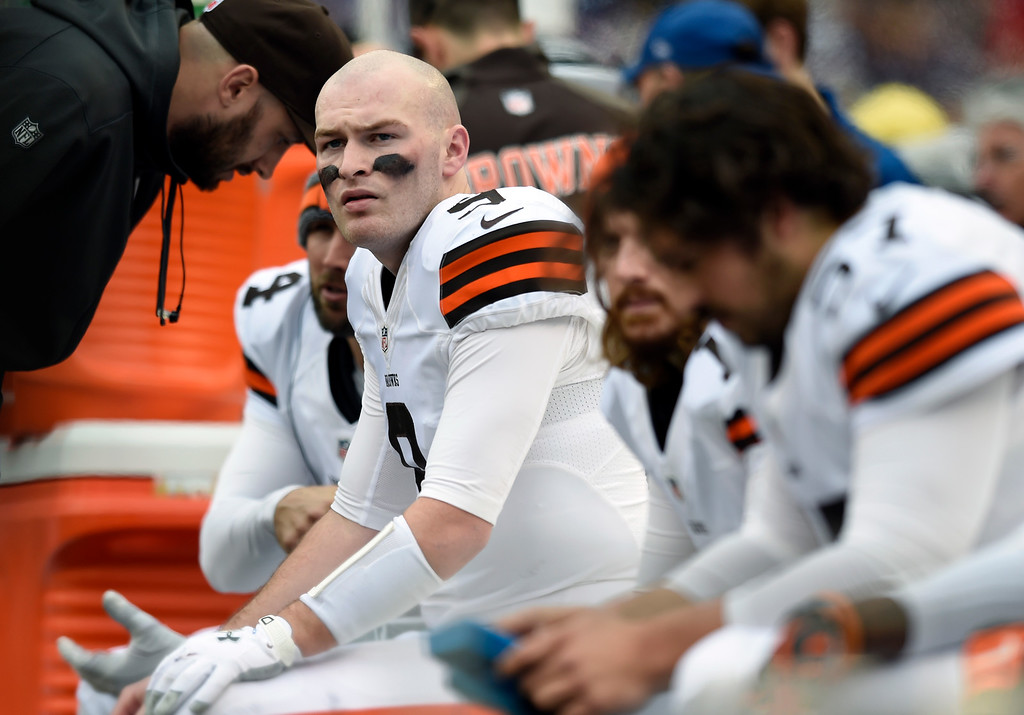 . Associated Press file Cleveland Browns quarterback Connor Shaw sits on the bench in the first half of an NFL football game against the Baltimore Ravens, Sunday, Dec. 28, 2014, in Baltimore.