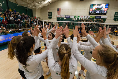 2018 Cal Poly Volleyball vs UC Riverside