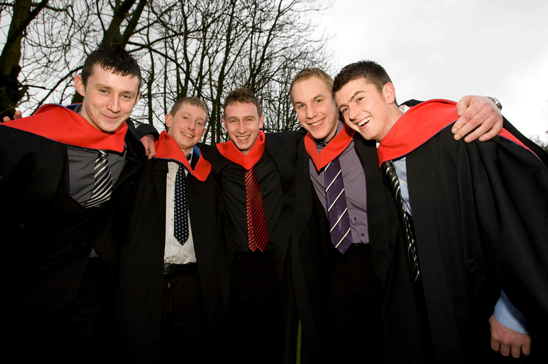 5/1/2012. News. Free to use image. Waterford Institute of Technology (WIT) Graduation. Pictured are Ronan Gorry, Laois, Seamus Millea, Kilkenny, Denis O'Dwyer, Kilkenny, Eamon Hennebry, Kilkenny, Mark Maloney, Carlow who graduated with a Higher Certificate in Science in Agricultural Science. Photo Patrick Browne