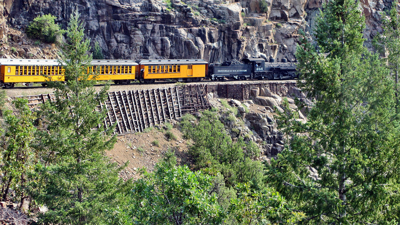 Riding the Durango & Silverton Narrow Gauge Railroad round trip Durango to Silverton