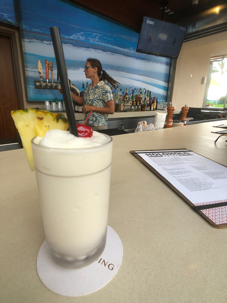 That would be a Pina Colada drink, from the Holoholo poolside bar in Poipu Beach