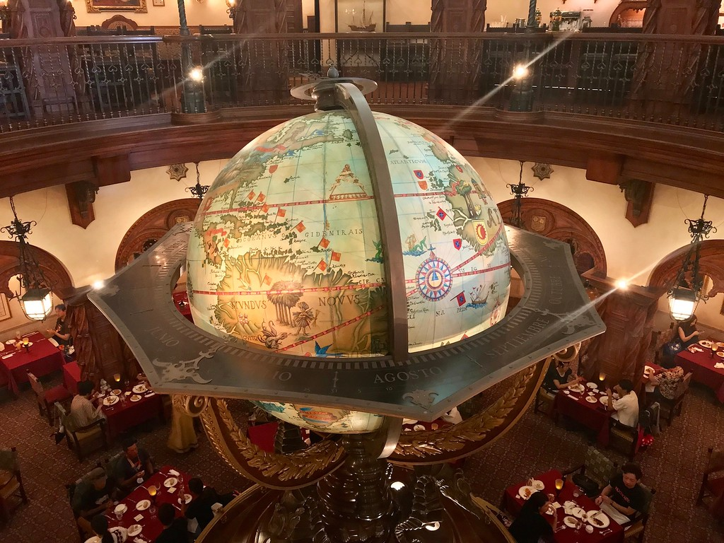 The globe in the dining room.