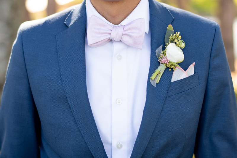 Groom's Bow Tie and Boutonnière
