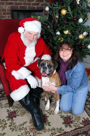 Atlanta Boxer Rescue Photos with Santa 2009