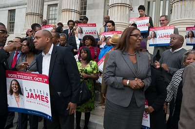 Brooklyn Borough Hall Press Conference For  Letitia James
