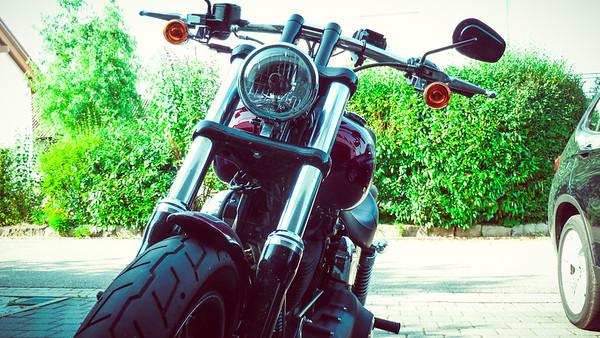 Harley fahren Aurelia und Bernhard 05.07.2015