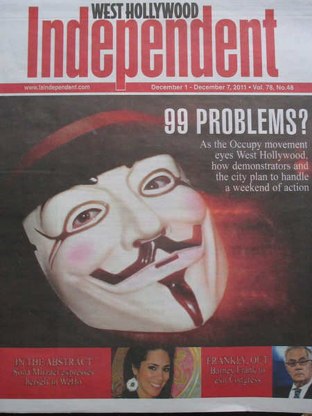 LA artist Sona Mirzaei on the cover of the West Hollywood Independent newspaper.