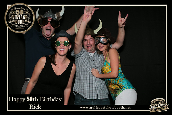 Rick's 50th Birthday Photobooth Pictures
