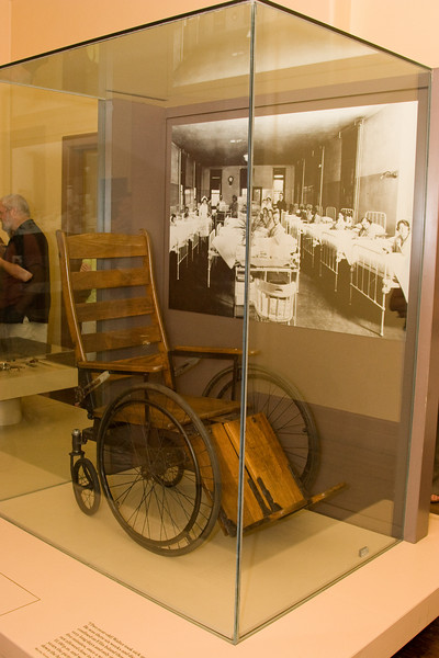 Wheelchair (same one I saw in 1984?) -- Ellis Island