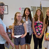 ABBOTT MIDDLE SCHOOL STUDENTS GIVE MONEY TO RED CROSS
