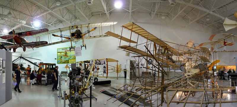 Wide view of the early planes area