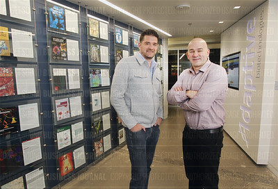 Adaptive Biotechnologies Chad Robins and his older brother Harlan Robins, are pictured in their company's swank newly expanded headquarters in the Eastlake neighborhood of  Seattle, Wash