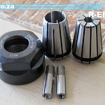 SKU: R-ER20, ER20 Collet Essential Set, Includes Collet Nut, 6mm/12mm Holders and 3mm/4mm Adapter