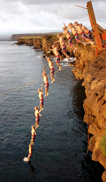 Hawaii Hawaii Cliff jumping Volcano
