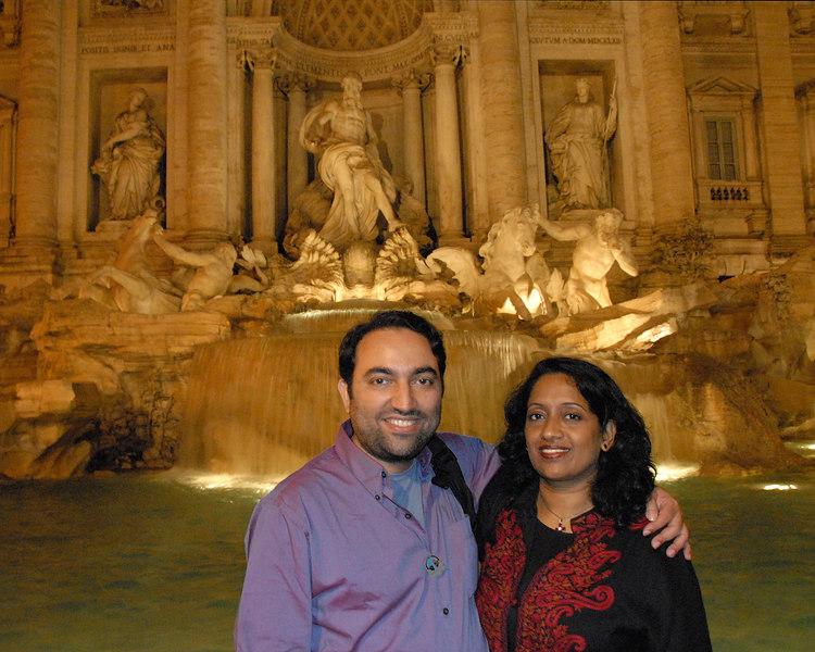 Rome, Italy 2006 with Priya & Piyush