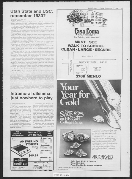 Daily Trojan, Vol. 97, No. 4, September 07, 1984