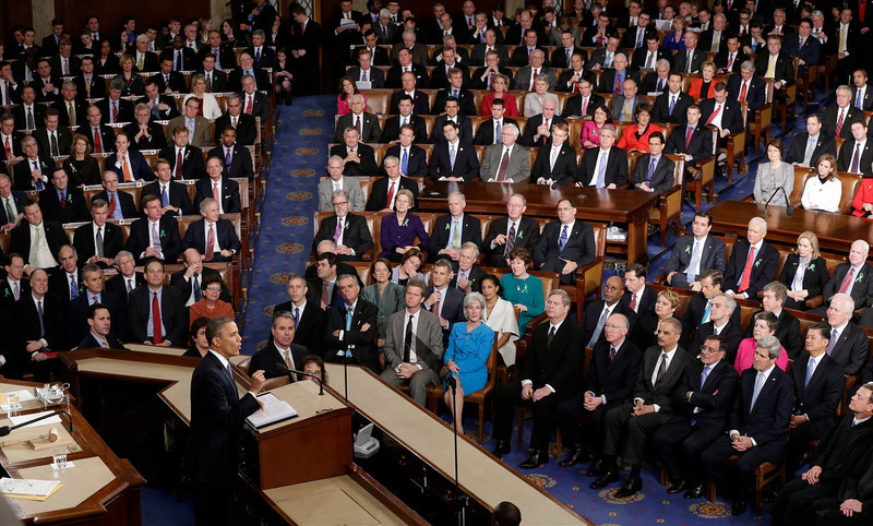 . President Barack Obama gives his State of the Union address during a joint session of Congress on Capitol Hill in Washington, Tuesday Feb. 12, 2013. (AP Photo/J. Scott Applewhite)