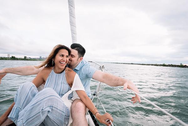 Cleveland, Ohio Wedding Photographer   Melissa & Jake's Sailboat Session