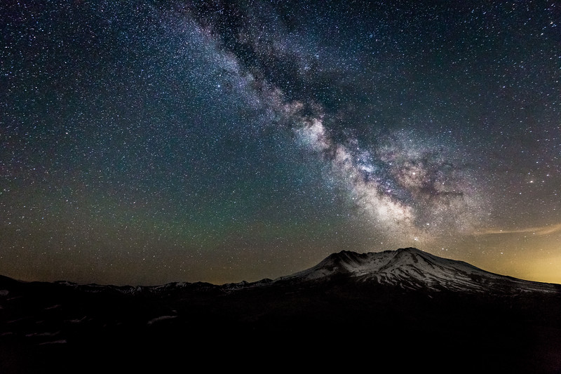 Staruption above Mt. Saint Helens
