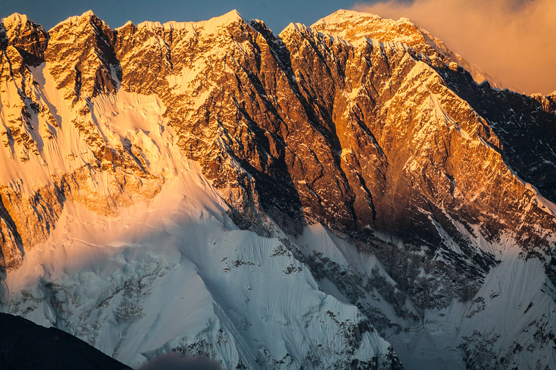 View of Mount Everest with morning sunlight - Nepal - Solukhumbu District