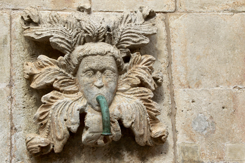 One of the 16 carved masks of Onofrio's Fountain - Dubrovnik
