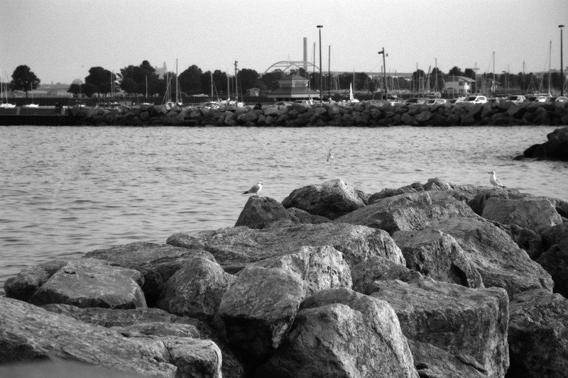 Milwaukee Cityscape on Black and White 35mm Film Photograph 24