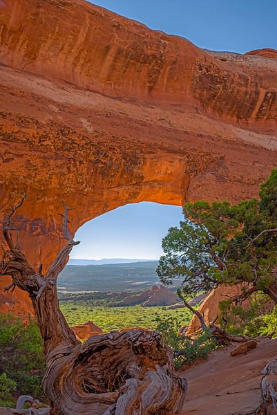 Overlook Through an Arch