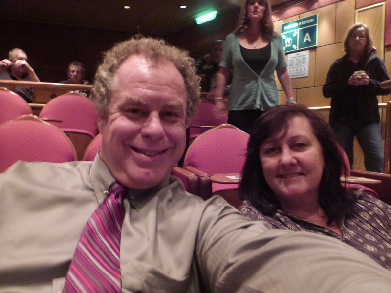 Sis and I waiting for the show to start.