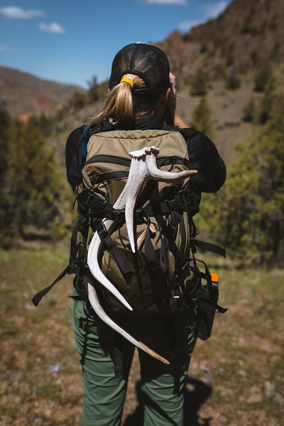 Malia Frame (@malia_f) shed hunting in Oregon.
