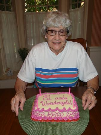 Mom's 81st Birthday - 2014