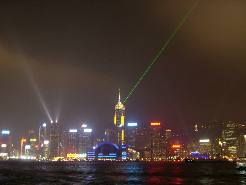 Festival of Lights over Victoria Harbor