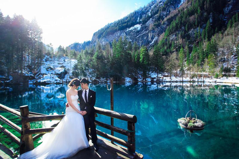 blausee pre wedding