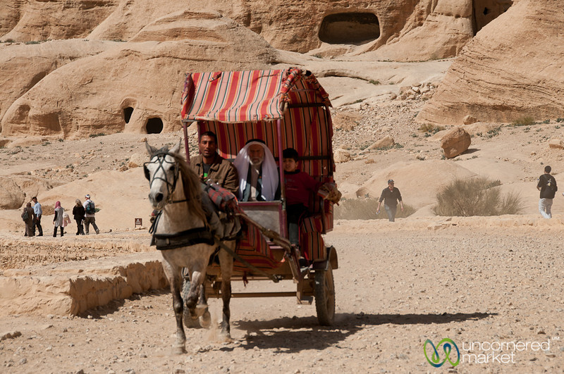 Taking a Carriage through Petra - Jordan