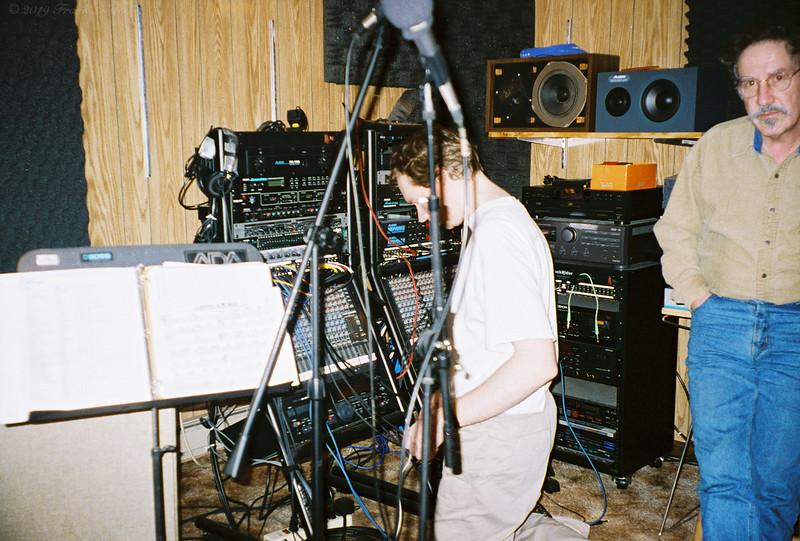 Larry Lebin & FL in my basement studio, 702 Robert St. Mechanicsburg PA. Jan 1 1998