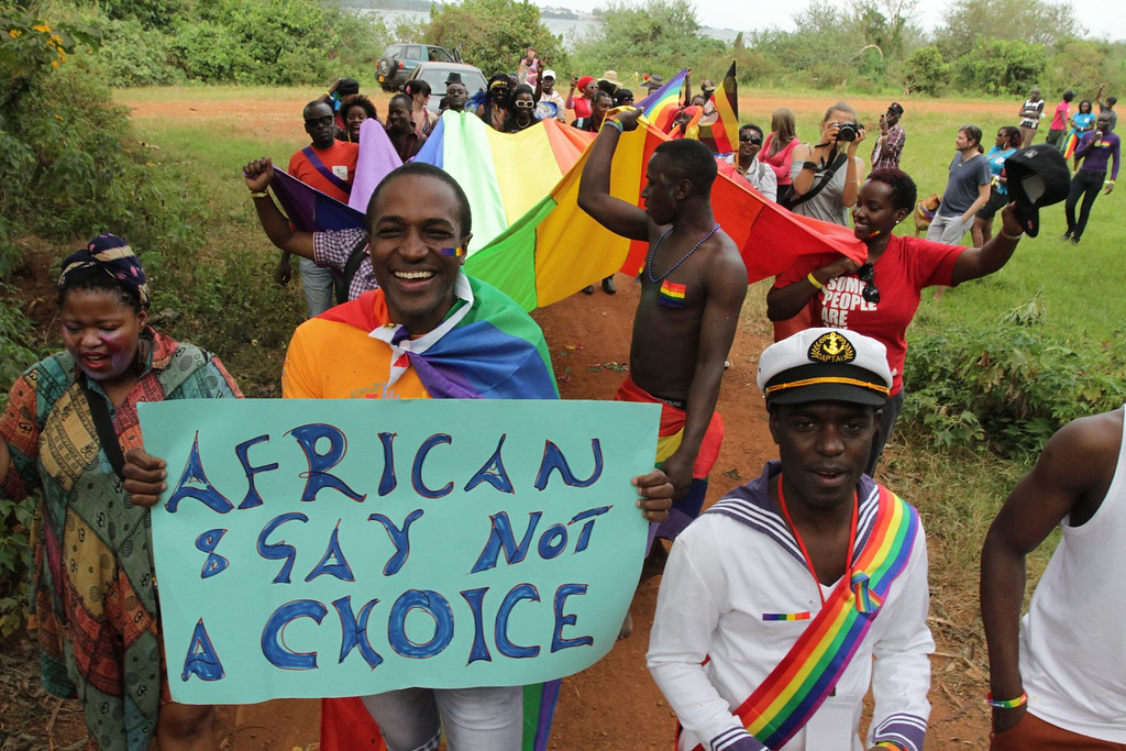 . A file picture dated 04 August 2012 shows gay and lesbian activists attending Uganda\'s first gay pride parade at the Entebbe Botanical Gardens in Kampala, Uganda. Uganda\'s President Yoweri Museveni signed into law on 24 February 2014 anti-gay legislation that allows homosexuals to be punished with up to life in prison. The law has come under strong criticism abroad, with US President Barack Obama warning that it could \'complicate\' Uganda\'s relations with one of its biggest aid donors.  EPA/RACHEL ADAMS