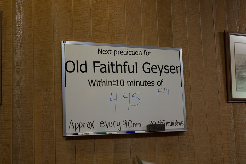 Everyone keeps track of the main event, Old Faithful Geyser