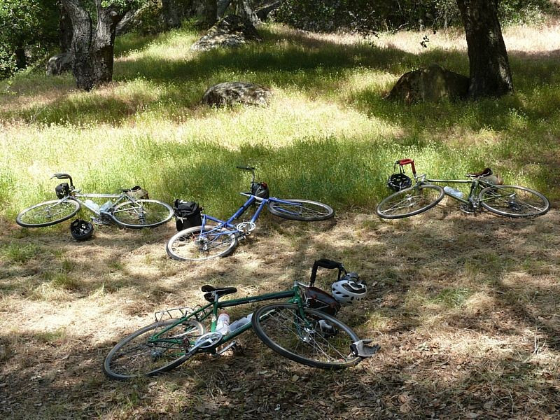 The bikes are tired.