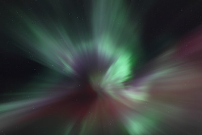 Aurora Time Lapse: Northern Lights at the Arctic Circle on March 16-17, 2013