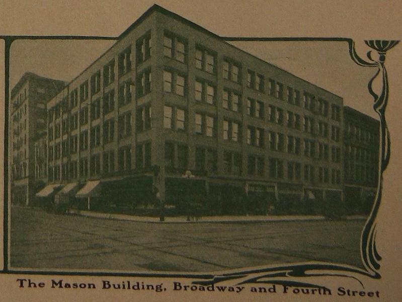 The Mason Building, Broadway and Fourth Street.