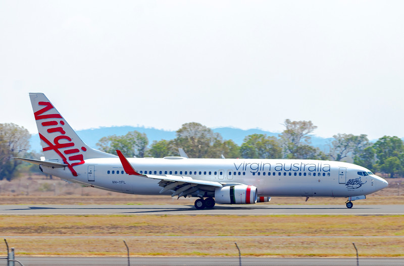Virgin Airlines Boeing 737-8FE VH-YFL 'Sandy Bay' at Rockhampton Airport