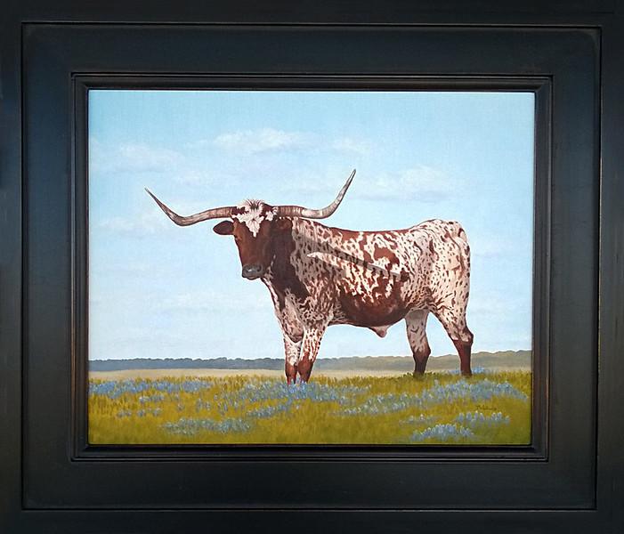 Bluebonnet King - Oil on canvas board 16x20 - SOLD