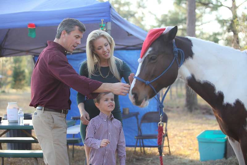 The Culbreth family visit the Songer's Christmas Tree Farm
