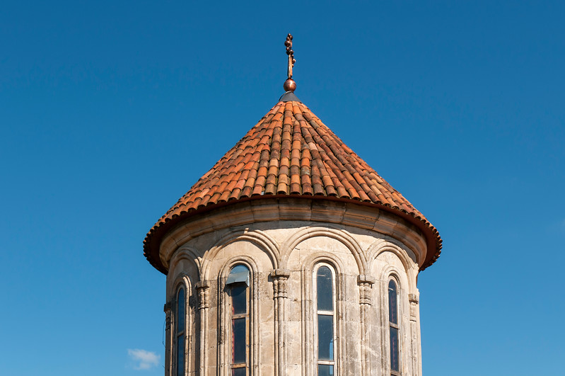Close up of Church Tower, Motsameta Monastery near Kutaisi, Georgia