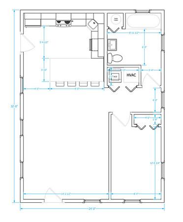 One Bedroom - 710 sqft