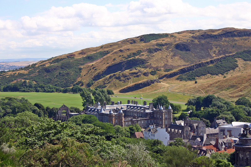 Holyroodhouse Palace from Calton Hill