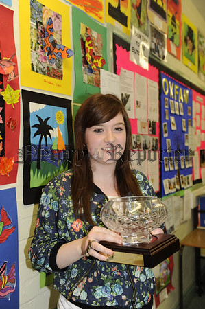 Anna McCreesh receives the award for Learning for life and work 10W45N607