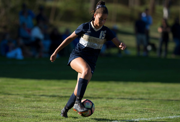 09/17/19 Wesley Bunnell | StaffrrBristol Eastern vs Newington soccer on Tuesday afternoon at Newington High School. Newington's Olivia Mullings (15)
